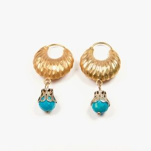 Calceolaria Turquoise Earrings // Handmade